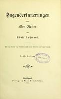 view Jugenderinnerungen eines alten Arztes : Mit dem Porträt des Verfassers nach einem Gemälde von Franz Lenbach / von Adolf Kussmaul.