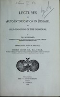 view Lectures on auto-intoxication in disease, or, Self-poisoning of the individual