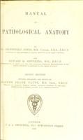 view Manual of pathological anatomy / by C.Handfield Jones and Edward H. Sieveking edited by Joseph Frank Payne.