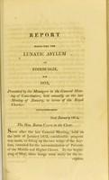 view Report respecting the lunatic asylum of Edinburgh for 1813.