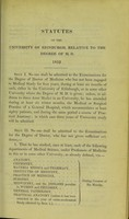 view Statutes of the University of Edinburgh, relative to the degree of M.D. 1833.