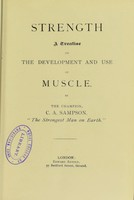 view Strength : A treatise on the development and use of muscle