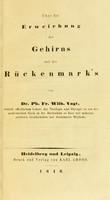 view Über die Erweichung des Gehirns und des Rückenmarks / von Ph. Fr. Wilh. Vogt.