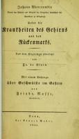 view Ueber die Krankheiten des Gehirns und des Rückenmarks / Johann Abercrombie; aus dem Englischen übersetzt von Fr. de Blois; mit einem Anhange über Geschwülste im Gehirn von Friedr. Nasse.