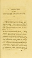 """view A vindication of the University of Edinburgh (as a School of Medicine,) from the aspersions of """"a member of the University of Oxford"""". With remarks on medical reform and an appendix ..."""