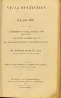 view Vital statistics of Glasgow