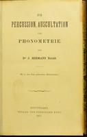 view Zur Percussion, Auscultation und Phonometrie / von J. Hermann Baas.