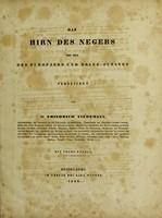 view Das Hirn des Negers mit dem des Europäers und Orang-Outangs verglichen / [Friedrich Tiedemann].