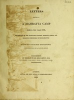 view Letters written in a Mahratta camp during the year 1809, descriptive of the characters, manners, domestic habits, and religious ceremonies, of the Mahrattas
