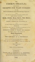 view The cook's oracle : containing practical receipts / [William Kitchiner].