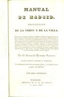 view Manual de Madrid. Descripcion de la corte y de la villa