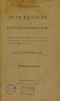 view Voorlezingen over F.J. Gall's herssenschedelleer / [J.E. Doornik].