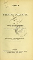 view Notes on 'uterine polarity'