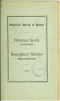 view Obstetrical Society of Boston : historical sketch / Cotting. Biographical sketches ; Wellington.