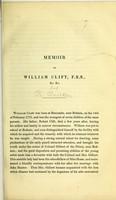 view Memoir of William Clift, F.R.S., &c. &c.