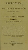 view Observations on some late attempts to depreciate the value and efficacy of vaccine inoculation