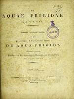 view De aquae frigidae usu Celsiano : dissertatio philologico-medica, in qua praecipuos A. Corn. Celsi locos de aqua frigida illustrare