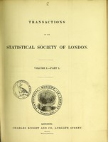 view Transactions of the Statistical Society of London.