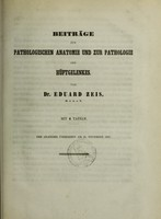 view Beiträge zur pathologischen Anatomie und zur Pathologie des Hüftgelenkes / von Eduard Zeis.