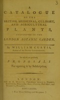 view A catalogue of the British, medicinal, culinary, and agricultural plants, cultivated in the London Botanic Garden
