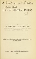 view Cholera asiatica maligna