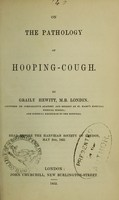 view On the pathology of hooping-cough