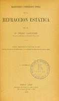 view Diagnóstico y correccion óptica de la refraccion estática / por el Dr Pedro Lagleyze.