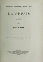 view La sepsis : lezione / del prof. A. d'Antona.