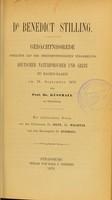 view Dr Benedict Stilling : Gedächtnissrede gehalten auf der zweiundfünfzigsten Versammlung Deutscher Naturforscher und Ärzte zu Baden-Baden am 18. September 1879