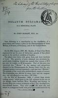 view Solanum dulcamara as a medicinal plant / by John Harley.