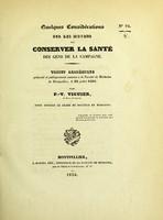 view Quelques considérations sur les moyens de conserver la santé des gens de la campagne : tribut académique présenté et publiquement soutenu à la Faculté de médecine de Montpellier, le 29 juillet 1836
