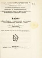 view Thèses présentées et publiquement soutenues à la Faculté de médecine de Montpellier, le 17 mars 1838 / par Duval (Charles-Marcellin).
