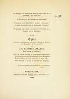 view Thèse présentée et publiquement soutenue à la Faculté de médecine de Montpellier, le 30 mars 1837 [i.e. 1838?]