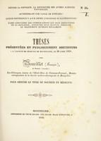 view Thèses présentées et publiquement soutenues à la Faculté de médecine de Montpellier, le 20 avril 1838 / par Bourillet (François).