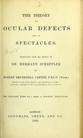 view The theory of ocular defects and of spectacles