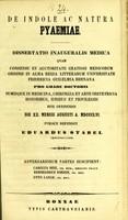 view De indole ac natura pyaemiae : dissertatio inauguralis medica ... / publice defendet Eduardus Stabel ; adversariorum partes suscipient Carolus Binz, Bernhardus Iohnen, Otto Lange.