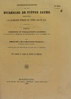 view Considérations sur les épidémies de fièvre jaune observées à la Guadeloupe pendant les années 1838 et 1839 : thèse présentée et publiquement soutenue à la Faculté de médecine de Montpellier, le 13 novembre 1840 / par Brette (Jean-Baptiste-Charles).