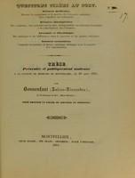 view Thèse présentée et publiquement soutenue à la Faculté de médecine de Montpellier, le 20 août 1841 / par Bonnenfant (Julien-Alexandre).
