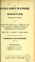 view De cura rheumatismi : dissertatio inauguralis medica ...