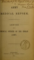 view Army medical reform : letter / from a medical officer of the Indian Army.