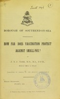 view How far does vaccination prevent against small-pox?