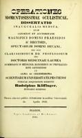 view Operationes momentosissimae oculisticae : dissertatio inauguralis medica ... / publicae disquisitioni submittit Rudolphus Köffinger.