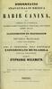 Dissertatio inauguralis medica de rabie canina ...