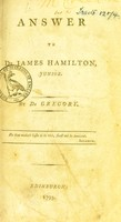 view Answer to Dr James Hamilton, junior