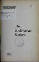 view The Sociological Society.