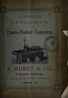 view Illustrated catalogue of electro-medical apparatus / A. Hurst & Co.