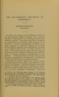 view The non-operative treatment of strabismus / George M. Gould.
