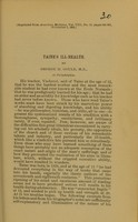 view Taine's ill-health / by George M. Gould.