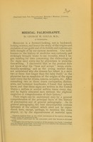 view Medical paleography / by George M. Gould.