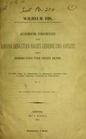 view Anatomische Forschungen über Johann Sebastian Bach's Gebeine und Antlitz : nebst Bemerkungen über dessen Bilder / von Wilhelm His.